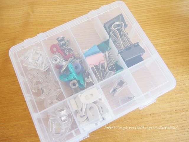 セリア プラスチックの仕切りケース10