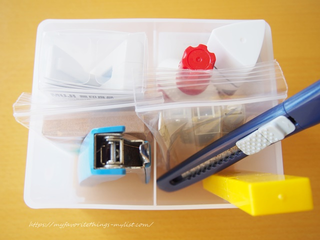 セリア プラスチックの仕切りケース15