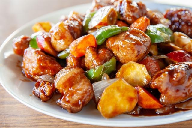 鶏肉の甘酢炒め