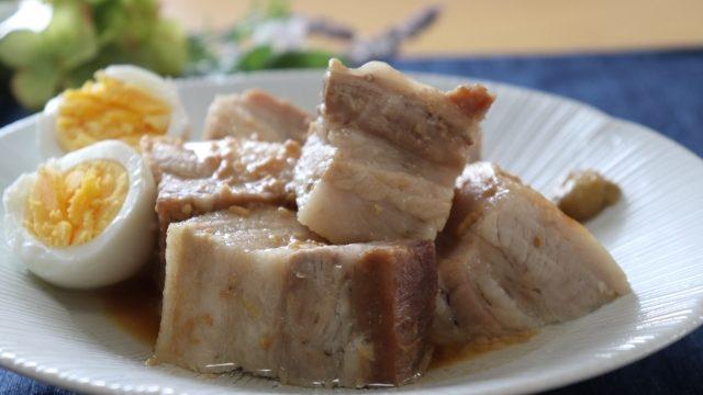 笠原シェフ 豚バラスライスの角煮風
