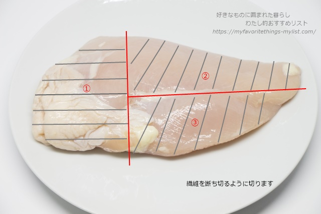 鶏むね肉の切り方1