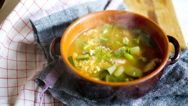 しらすと豆腐のショウガと桜えび香るスープ