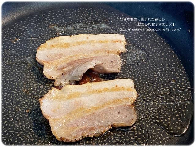 こしょう豚のソテーと目玉焼き15